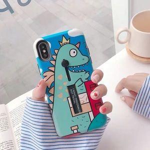 Cute dinosaur iPhone xs/x case